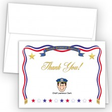 USA Foldover Family Thank You Card
