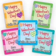 Valentine Hearts Mini Gift Labels