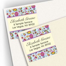 Vintage Tapestry Square Address Labels