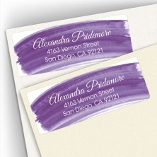 Violet Watercolor Address Labels