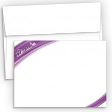 Violet Watercolor Flat Correspondence Cards
