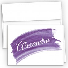 Violet Watercolor Fold Over Note Cards