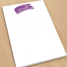 Violet  Watercolor Large Note Pads