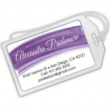 Violet Watercolor Luggage Tags