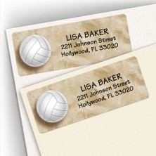 Volleyball Address Labels