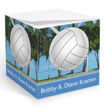 Volleyball Memo Cube