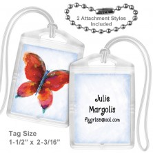 Watercolor Butterfly Mini Tag