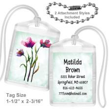 Watercolor Flowers 2 Mini Tag