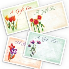 Watercolor Flowers Gift Labels