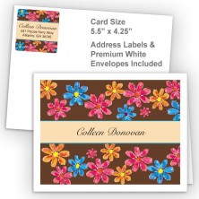Watercolor Flowers Thank You Card Package