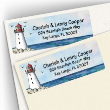 Watercolor Lighthouse Address Labels