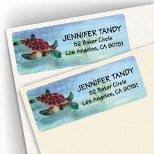 Watercolor Sea Turtle Address Labels