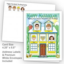 Winter House Happy Hanukkah Fold Note Set