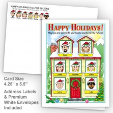 Winter House Happy Holidays Fold Note Set