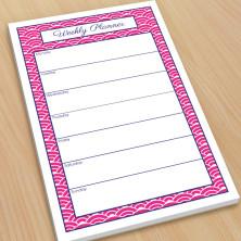 Woodblock Hot Pink Organizer Pads