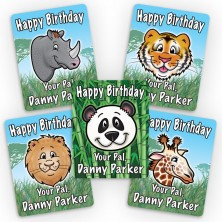 Zoo Animals Mini Gift Labels