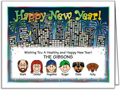 Caricature New Year Cards
