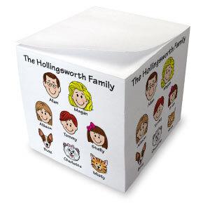 Family Caricature Memo Cubes