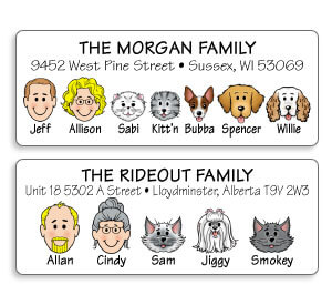 Dog and Cat Address Labels