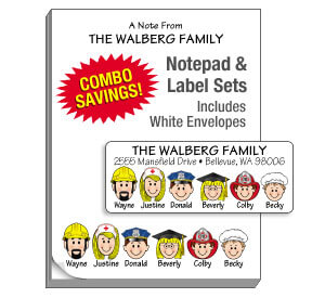 Family Note Pads and Label Combo