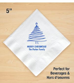 Personalized Christmas Beverage Napkins