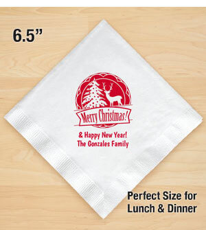 Personalized Christmas Lunch-Dinner Napkins