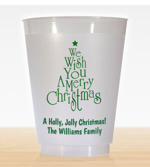 16 oz. Personalized Christmas Party Cups