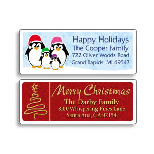 Artistic Holiday Address Labels