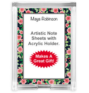 Acrylic Note Sheet Sets