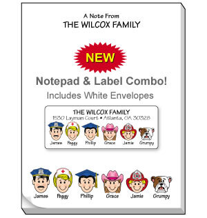 Family Notepad and Label Combo