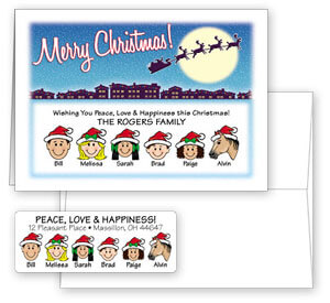 Holiday Cards & Matching Address Labels