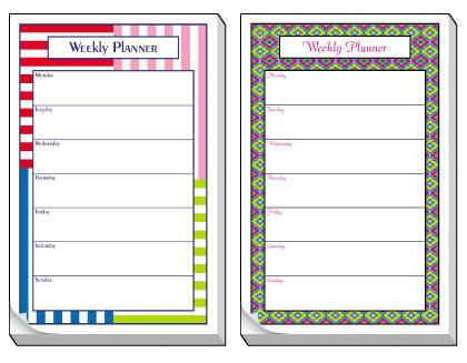 Non-Personalized Organizers - Click For More Designs