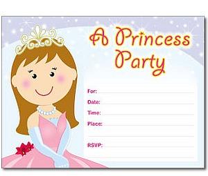 Fill-In Birthday Party Invitations