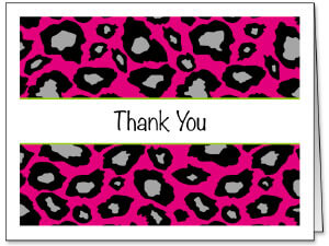 Foldover Thank You Cards & Envelopes