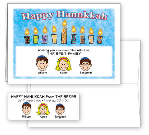 Happy Hanukkah Card Combo Sets
