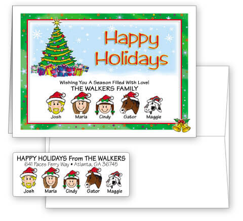 Happy Holidays Card Combo Sets