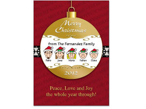 Caricature Ornament Christmas Cards