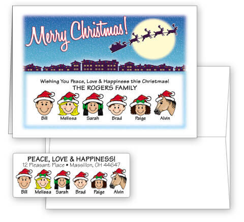 Merry Christmas Card Combo Sets