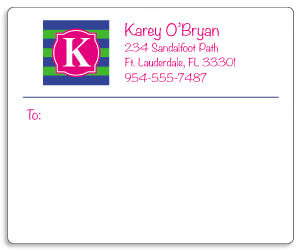 Monogram Shipping Labels