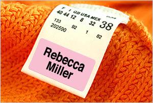 Peel & Stick Clothing Labels