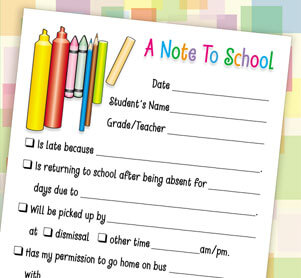School Excuse Pads
