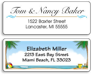 Artistic Address Labels