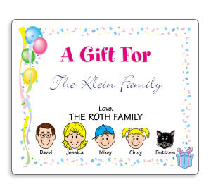 Personalized Caricature Gift Labels