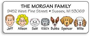 Dog & Cat Address Labels