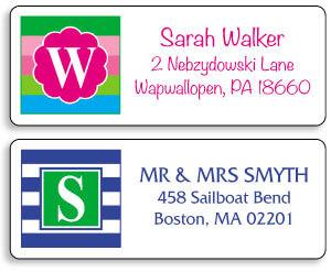 Monogram Address Labels