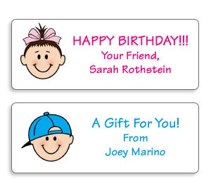 Personalized Caricature Mini Gift Labels