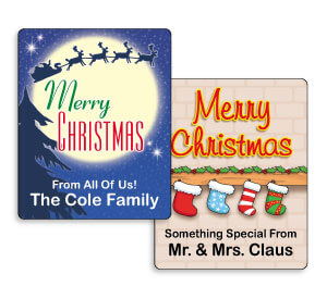 Personalized Small Christmas Gift Labels