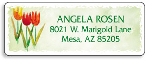 Flowers Address Labels