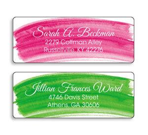 Watercolor Address Labels