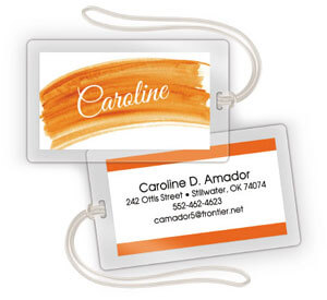 Watercolor 2-Sided Luggage Tags